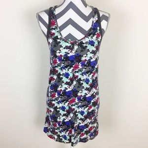 5/$25 Hurley Blue Floral Bodycon Dress Size S